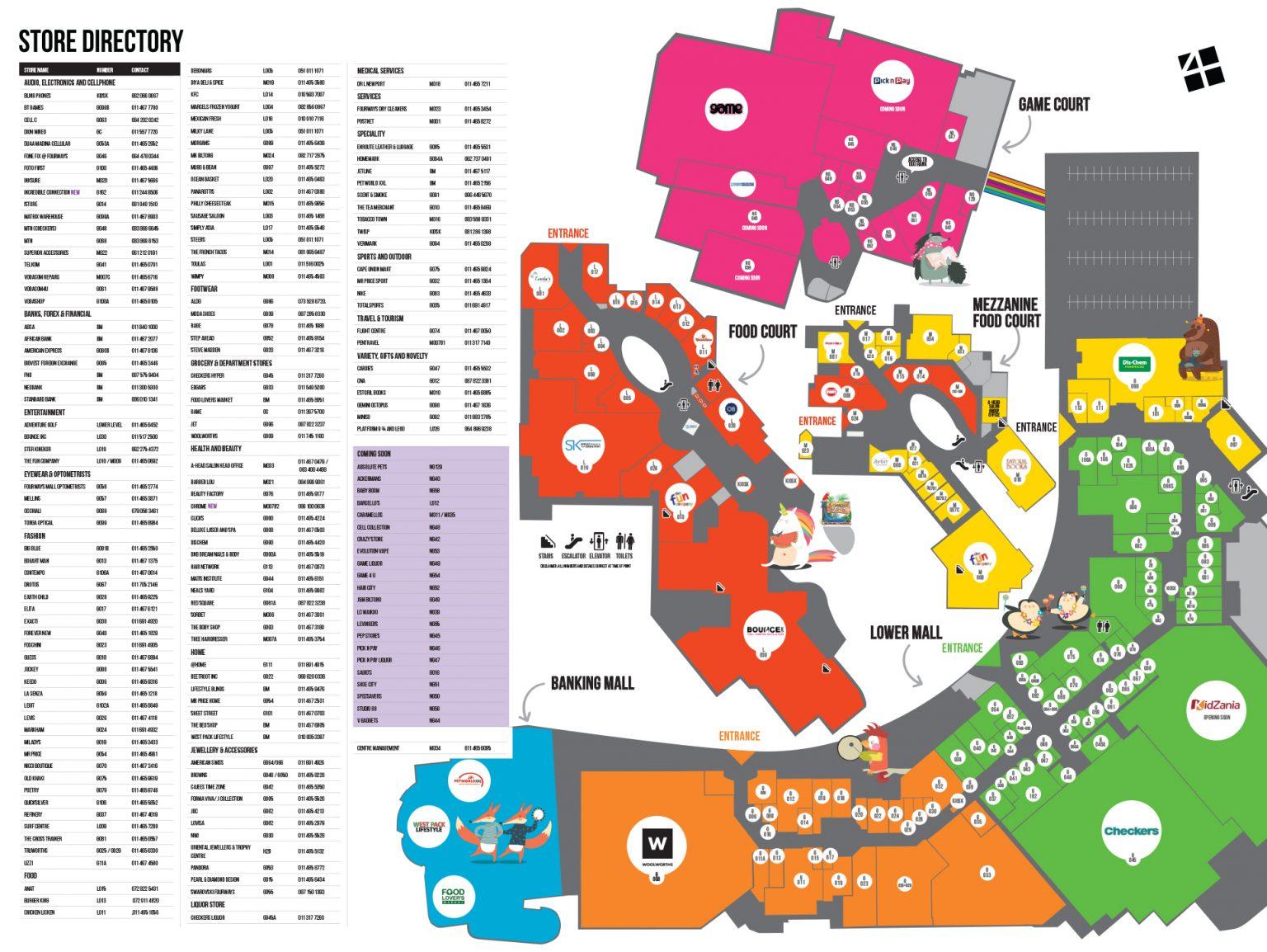 4wm mall map