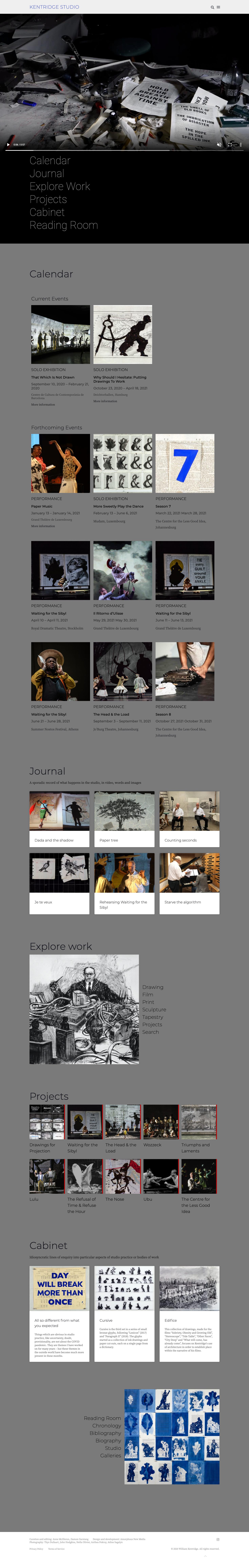 Amorphous New Media_Website development_User experience_Kentridge